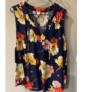 Old Navy Floral Sleeveless Summer Shirt XL